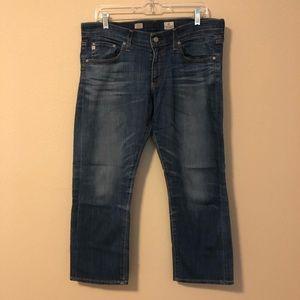 AG Tomboy Crop Boyfriend Straight Leg Jeans Sz 31